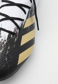 adidas Performance - PREDATOR 20.3 FOOTBALL BOOTS MULTI GROUND - Moulded stud football boots - footwear white/gold metallic/core black - 5