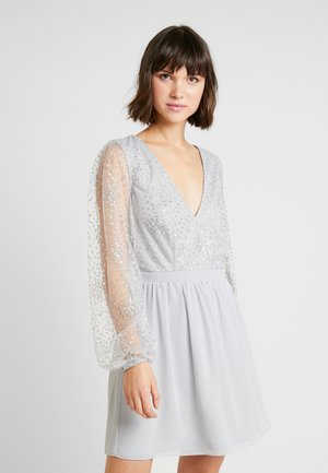 RITZY GLITTER SKATER DRESS - Cocktail dress / Party dress - silver