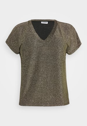 NMDIDI - Print T-shirt - black/gold