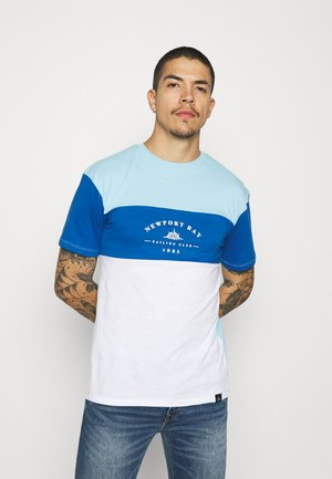 BLOCK - T-shirt print - light blue/blue/white