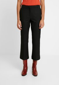 Selected Femme - SLFADA CROPPED FLARED PANT NOOS - Trousers - black - 0
