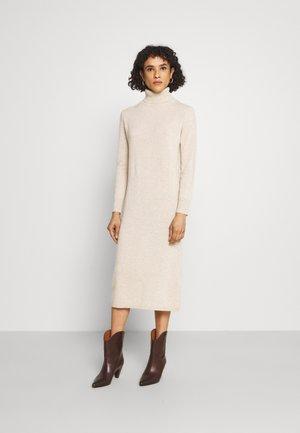 TURTLENECK DRESS - Maxi dress - oatmeal