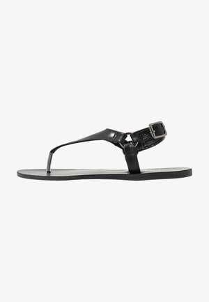 WIDE FIT TAMPA - Sandaler m/ tåsplit - black