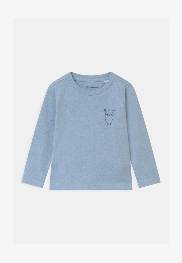 FLAX OWL - Long sleeved top - mottled light blue