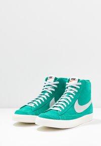 Nike Sportswear - BLAZER MID '77 UNISEX - High-top trainers - neptune green/pure platinum/sail - 3
