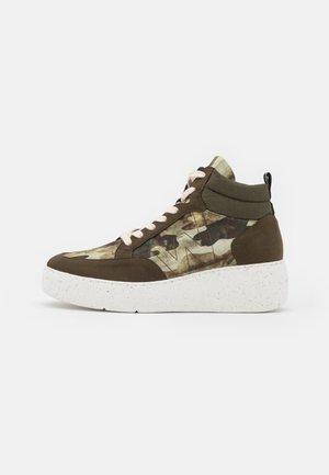 Sneakers hoog - khaki