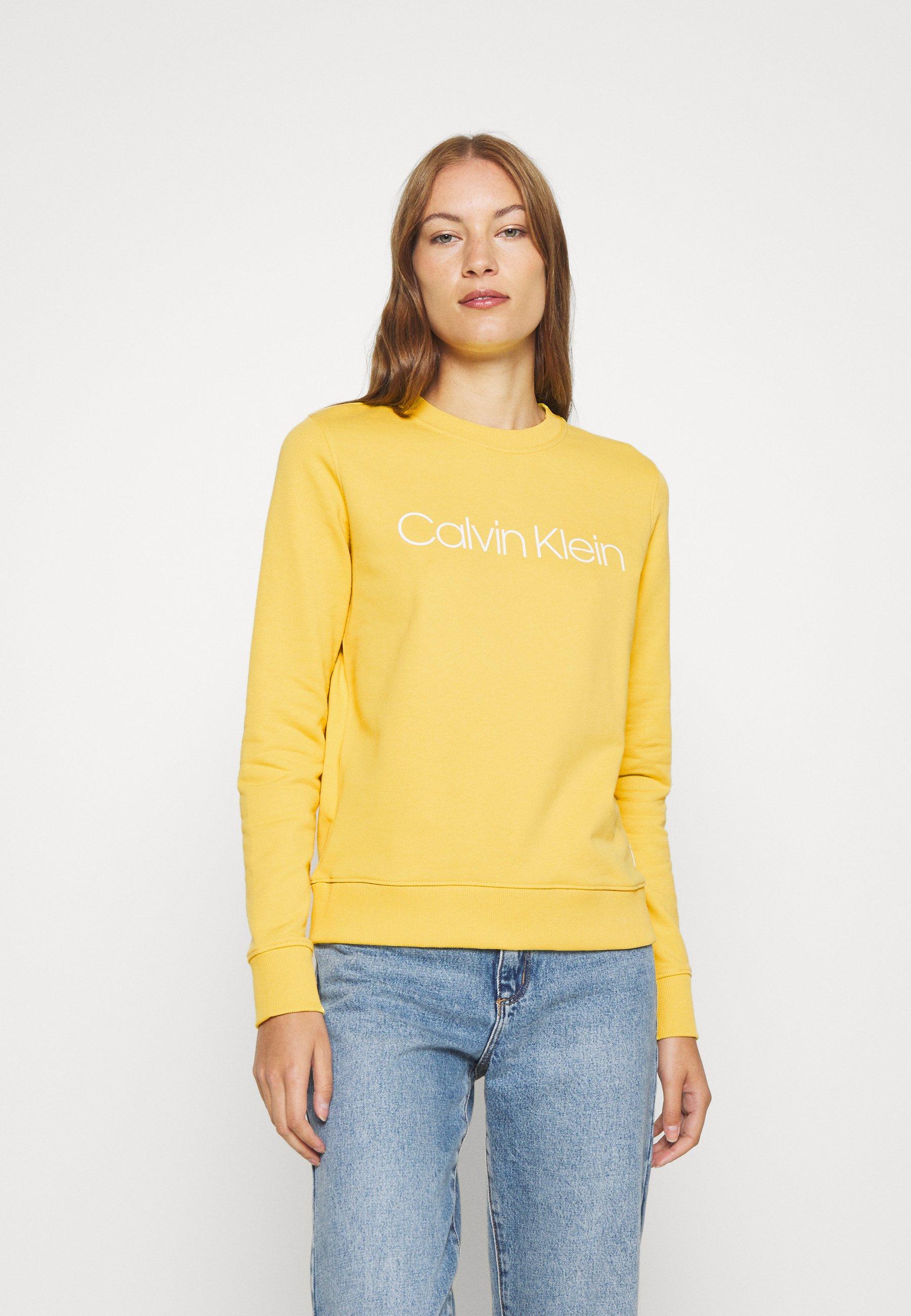 Perfect Shopping Online Women's Clothing Calvin Klein CORE LOGO Sweatshirt yellow dahlia u94XvIN0g uFa7M8DVR