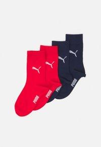 Puma - EASY RIDER JUNIOR 4 PACK UNISEX - Socks - white/blue/red - 0