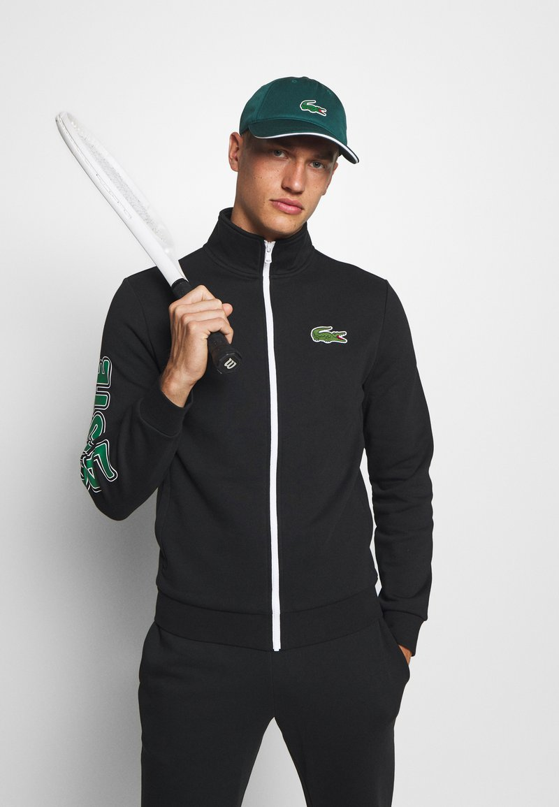 Lacoste Sport - TRACKSUIT - Tracksuit - black/green/white
