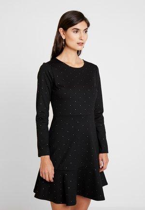 PONTE DRESS - Jerseyklänning - black/gold