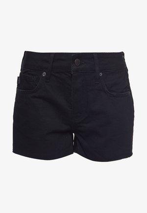 CUT OFF - Jeansshort - black