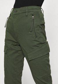 G-Star - HIGH G-SHAPE CARGO SKINNY PANT - Cargo trousers - dk algae - 4