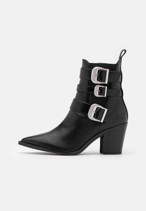 MARCHA - Cowboy/biker ankle boot - black