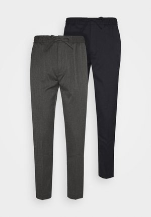 2 PACK - Trousers - dark blue
