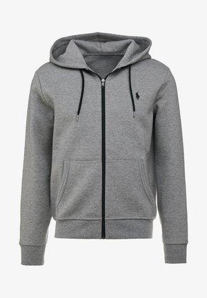 DOUBLE TECH - Hoodie met rits - battalion heather