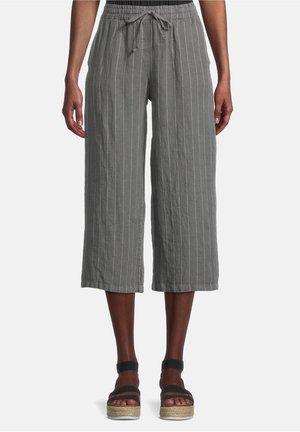 Trousers - grau/weiß