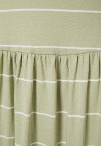 ONLY Tall - ONLMAY LIFE FRILL CALF DRESS - Maxi dress - desert sage/cloud dancer - 2