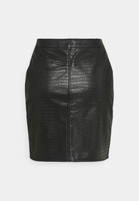 Missguided - CROC MINI SKIRT - Mini skirt - black - 1