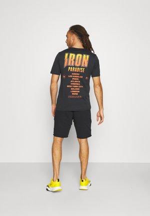 ROCK IRON TOUR - T-shirt med print - black