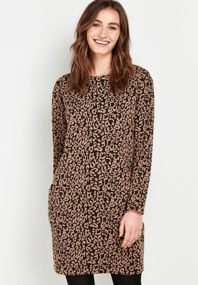ANIMAL PRINT - Day dress - brown