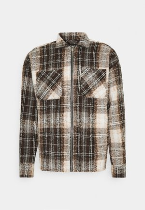 ZIP THRU HEAVY CHECK  - Summer jacket - brown