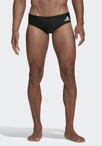 adidas Performance - COLORBLOCK TAPERED SWIM TRUNKS - Swimming trunks - black - 0