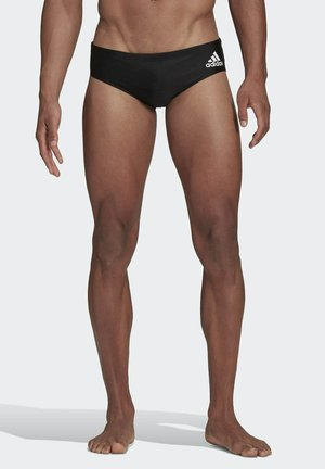 COLORBLOCK TAPERED SWIM TRUNKS - Swimming trunks - black