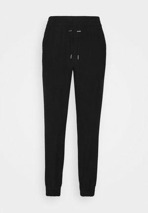 ONLKELDA EMERY PULL UP PANTS - Trousers - black