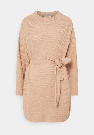 TIE WAIST JUMPER DRESS - Gebreide jurk - dusky dawn