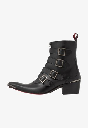 VEGAN SYLVIAN B - Kovbojské/motorkářské boty - black
