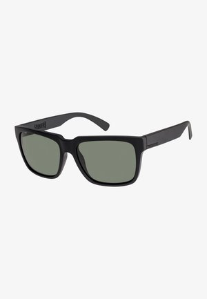 Sunglasses - matte black/mineral glass gree