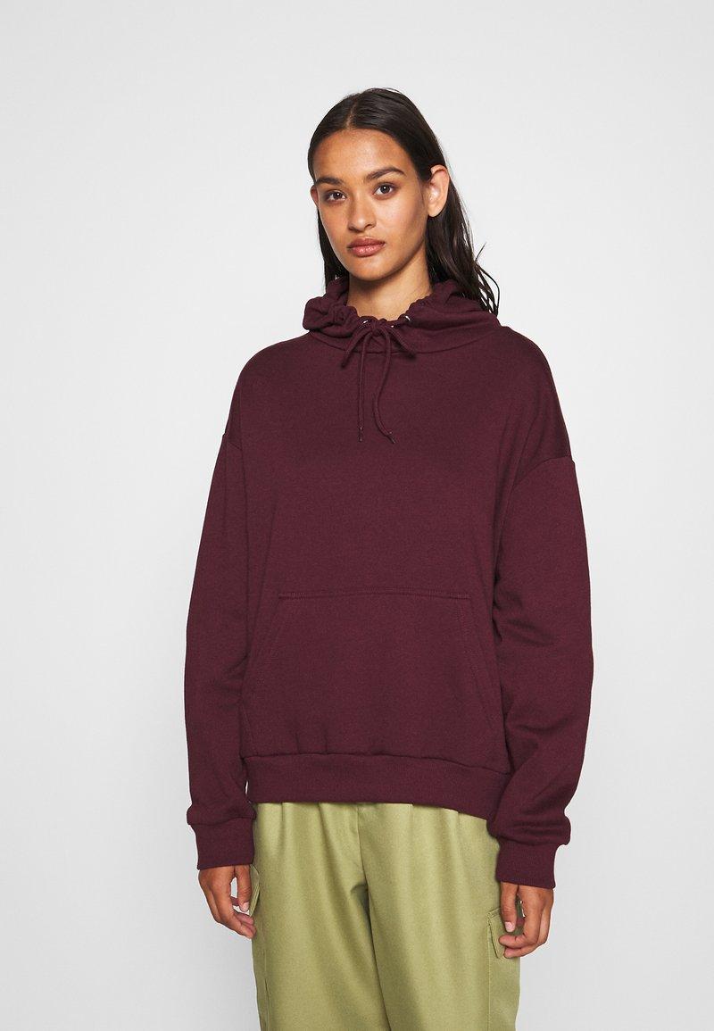 Even&Odd - BASIC - Oversized hoodie with pocket - Huppari - bordeaux