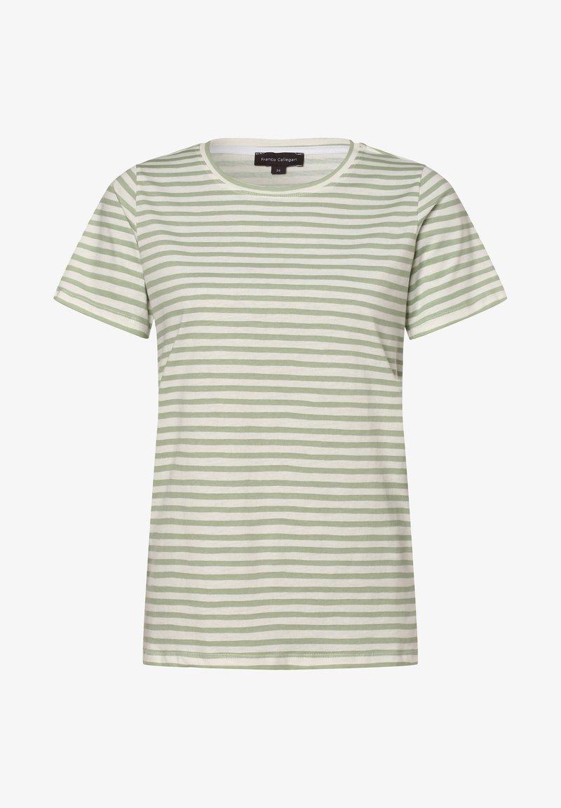 Franco Callegari - Print T-shirt - lind weiß