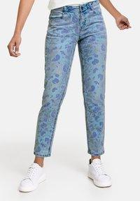 Taifun - Jeans Skinny Fit - blue denim gemustert - 0