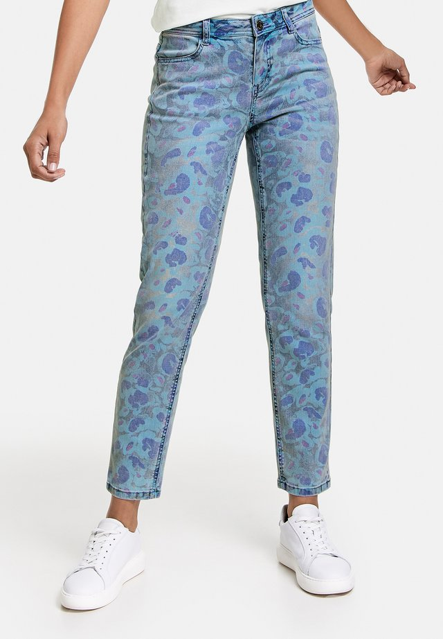 Jeans Skinny Fit - blue denim gemustert