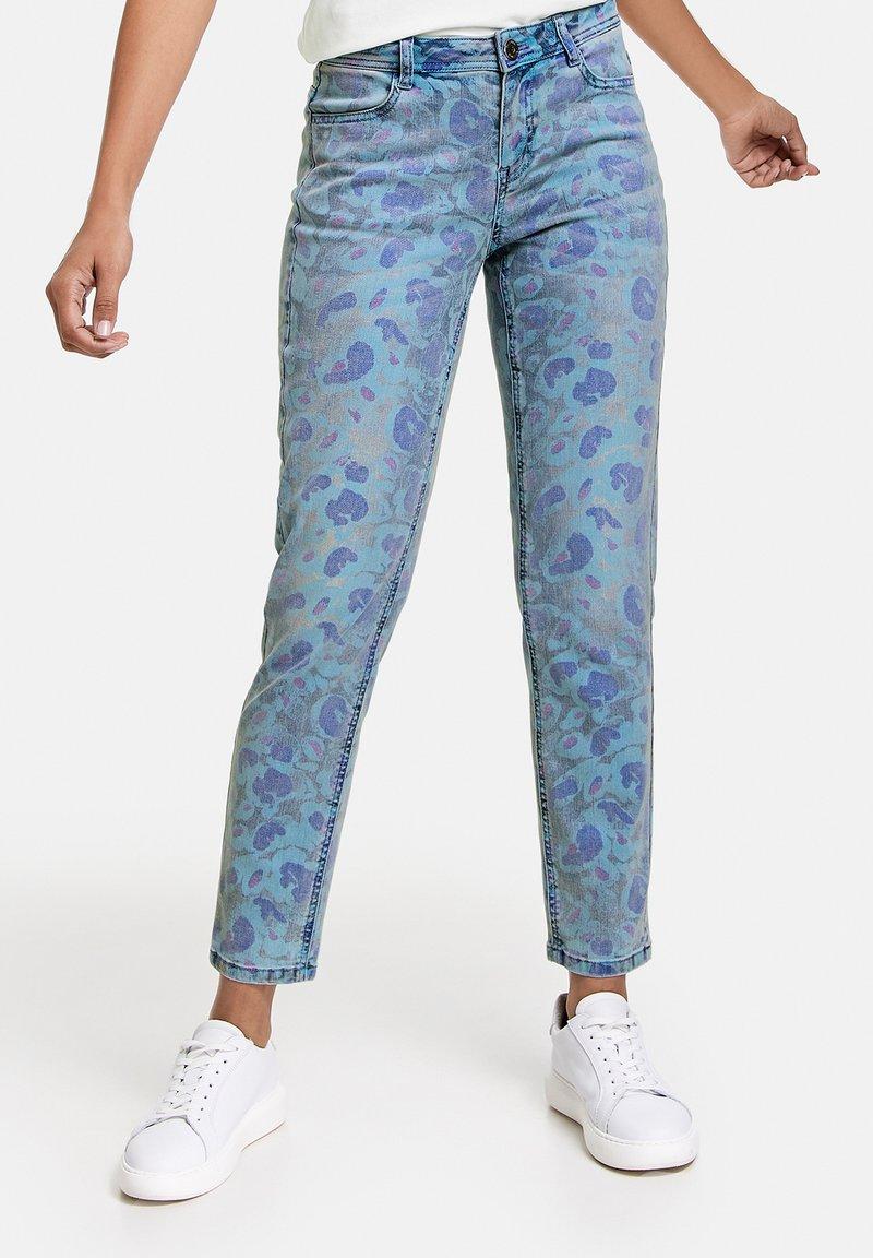 Taifun - Jeans Skinny Fit - blue denim gemustert