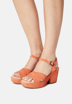 MARITSA70 - Platform sandals - bright orange