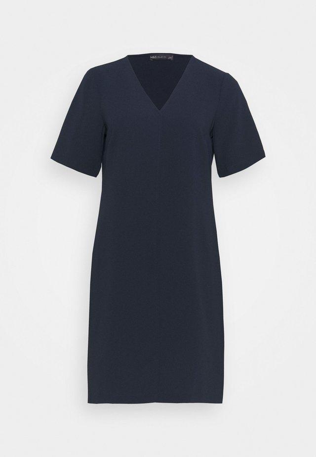 PLAIN SHIFT DRESS - Korte jurk - dark blue