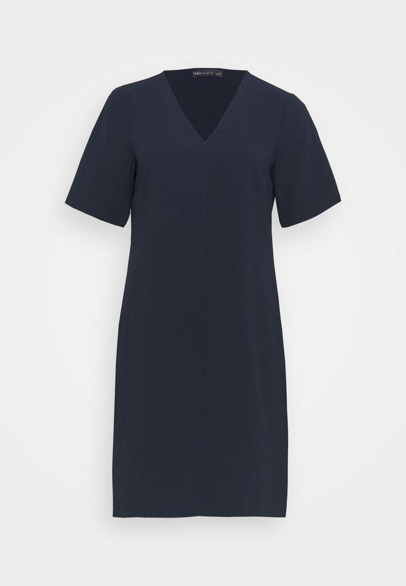 Marks & Spencer London - PLAIN SHIFT DRESS - Day dress - dark blue