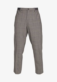 RELAXED TROUSERS CHECK - Trousers - grey/blue