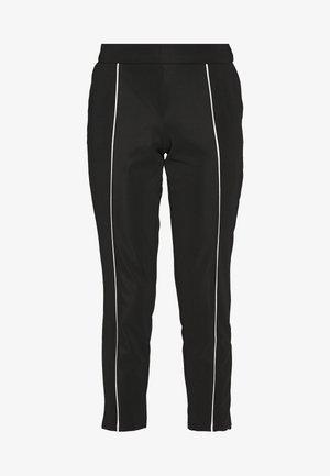 VIKRILLAS PANTS - Trousers - black/cloud dancer