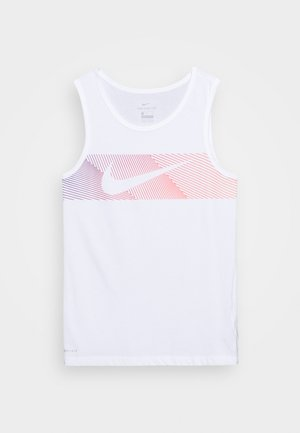 TANK - Sports shirt - white/hyper crimson