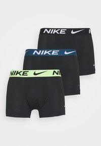 Nike Underwear - TRUNK  3 PACK - Underkläder - black/green/lime - 0