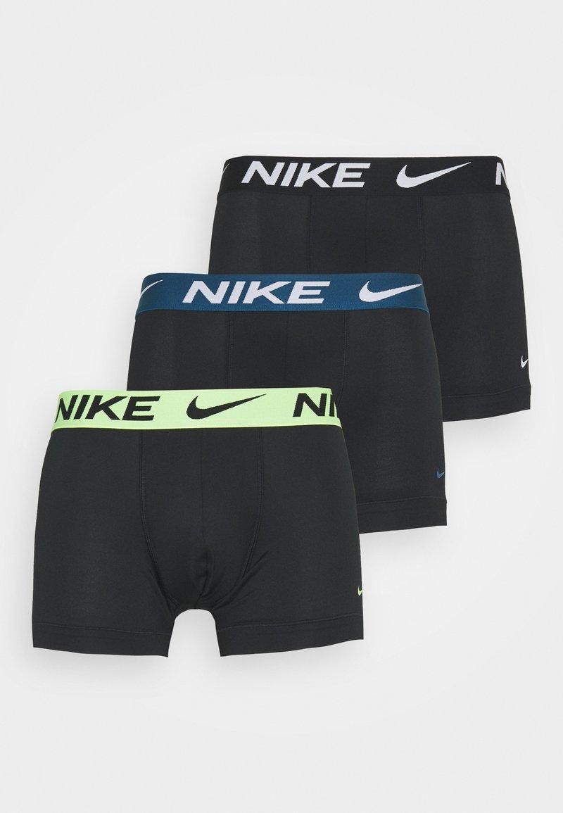 Nike Underwear - TRUNK  3 PACK - Underkläder - black/green/lime