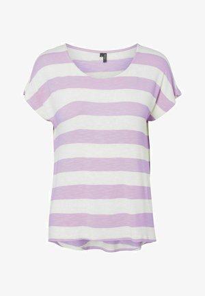 Print T-shirt - pastel lilac