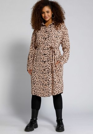 Shirt dress - pêche