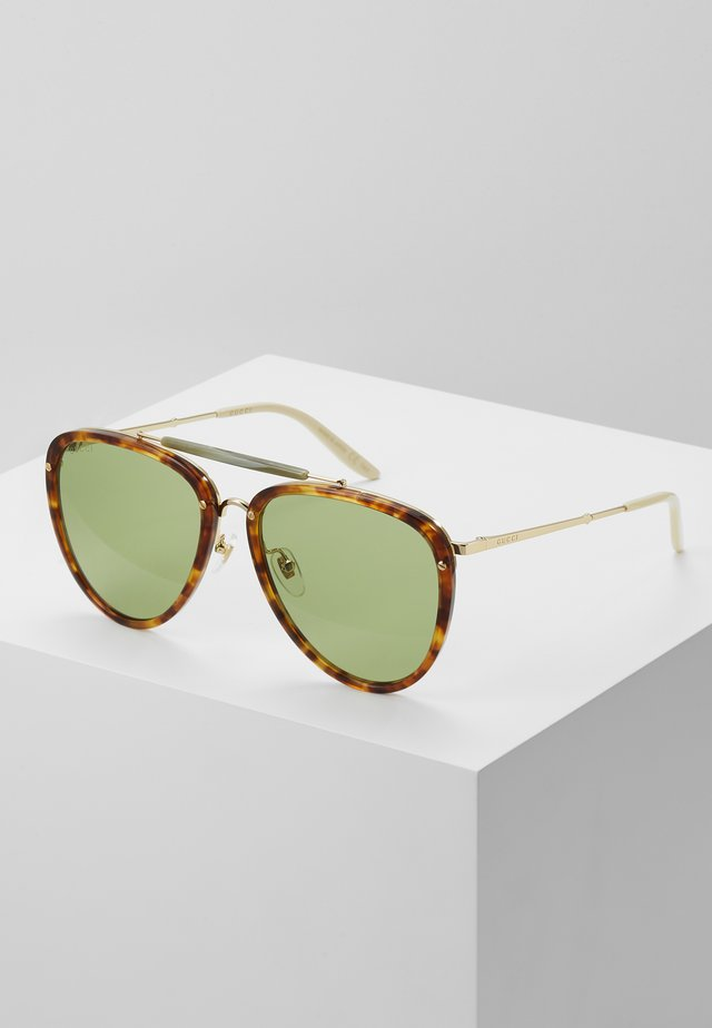 Sonnenbrille - havana/gold-coloured/green
