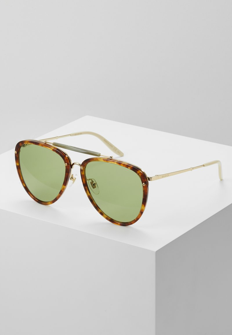 Gucci - Sunglasses - havana/gold-coloured/green