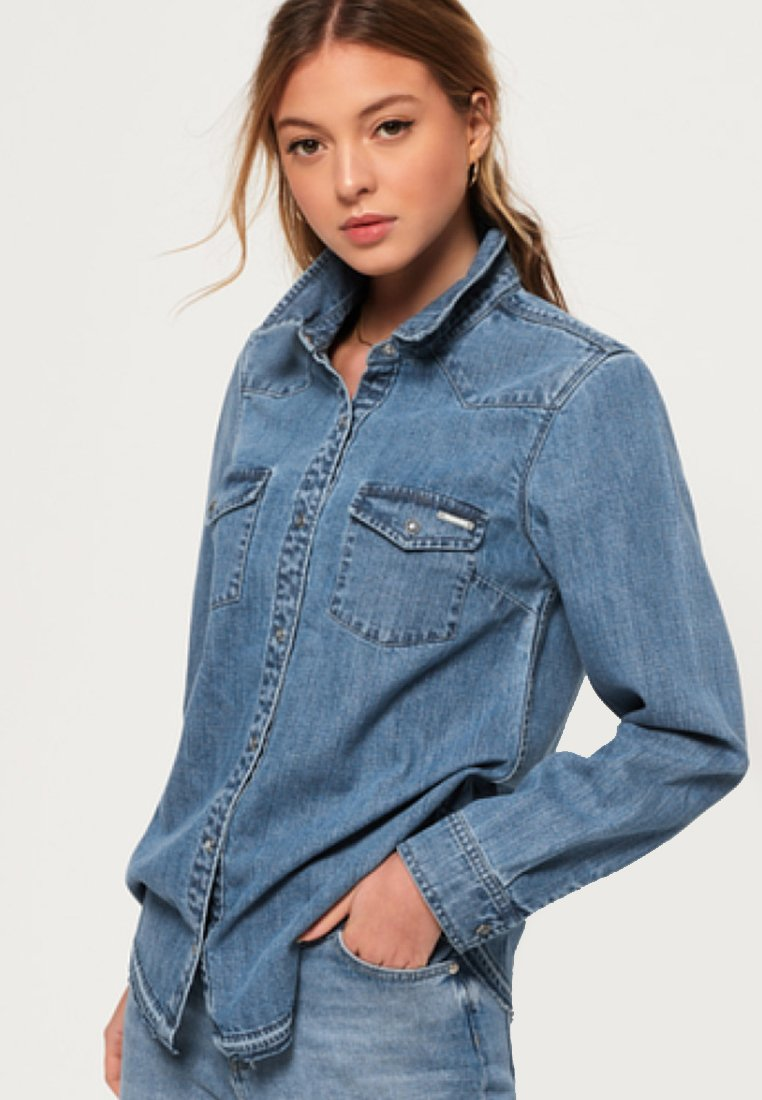 Superdry - Overhemdblouse - authentic blue