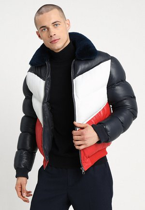 STORM TRICOLOR - Leather jacket - blue/white/red